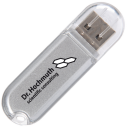 USB flash drive containing the software